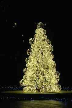 Arbre de Noël dans le jardin de fontaines italien