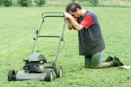Image result for broken lawn mower funny