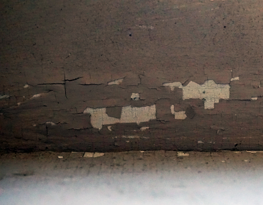 Wall with peeling paint