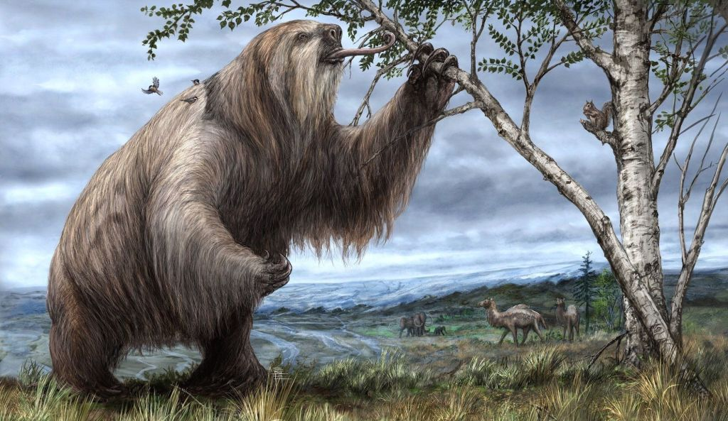 Illustration of a giant sloth.