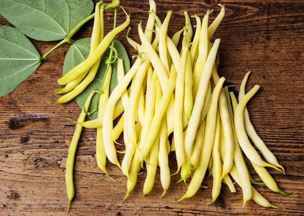 Bright yellow wax beans.