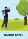 Illustration of Nature lover