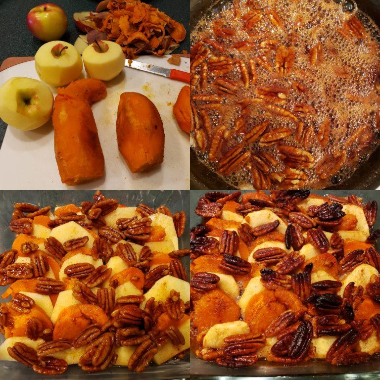 Whiskey-glazed sweet potatoes