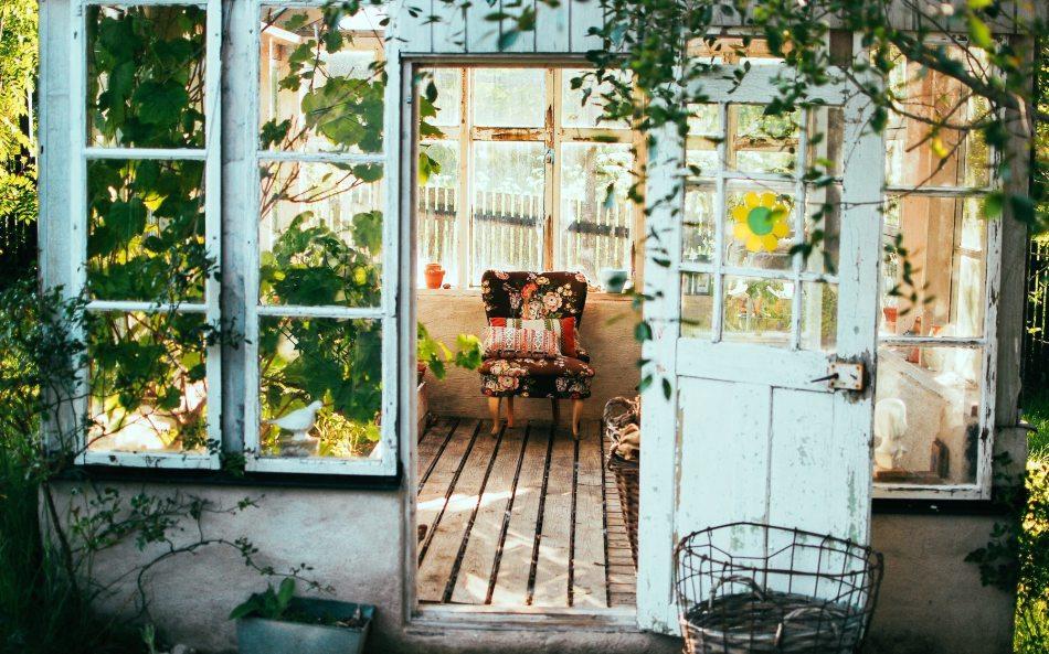 Véranda avec plantes