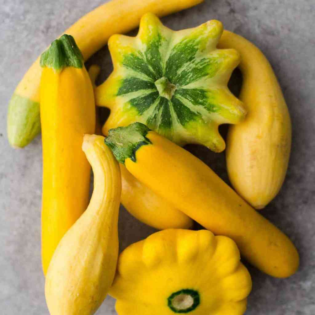 Mixed golden summer squash.