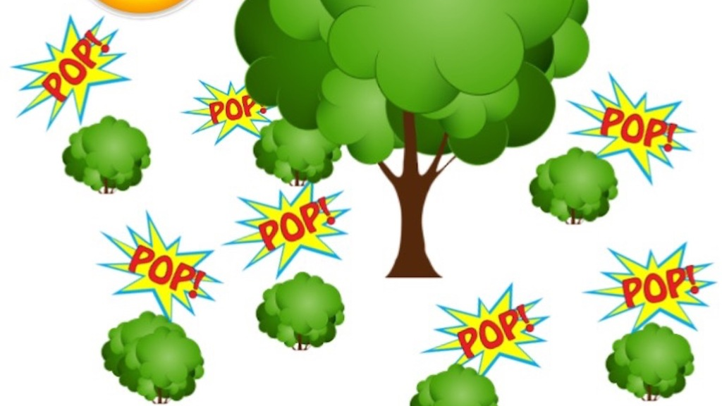 Illustration showing mother tree with baby trees popping up all around it.