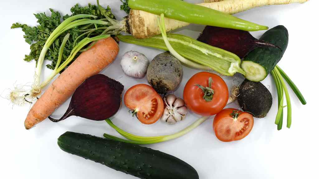 Several common vegetables